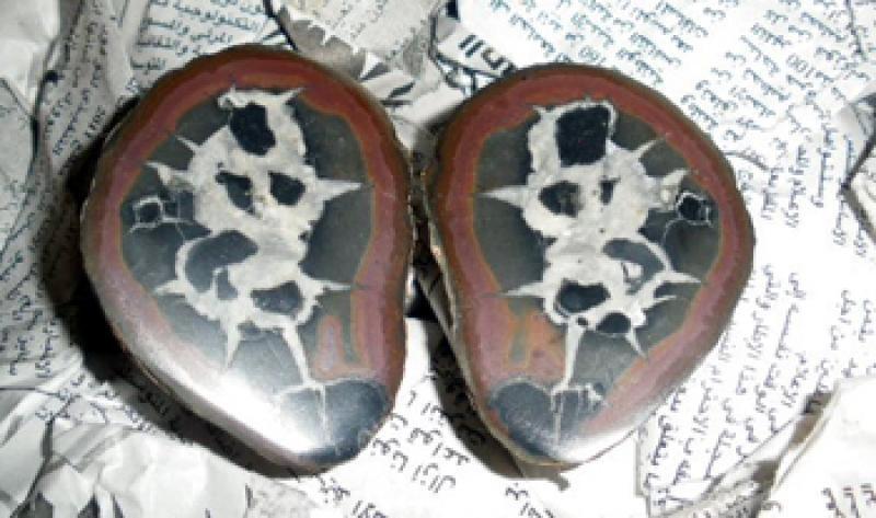 Septarien-Paare (poliert) 10 cm, Marokko, 1 Paar