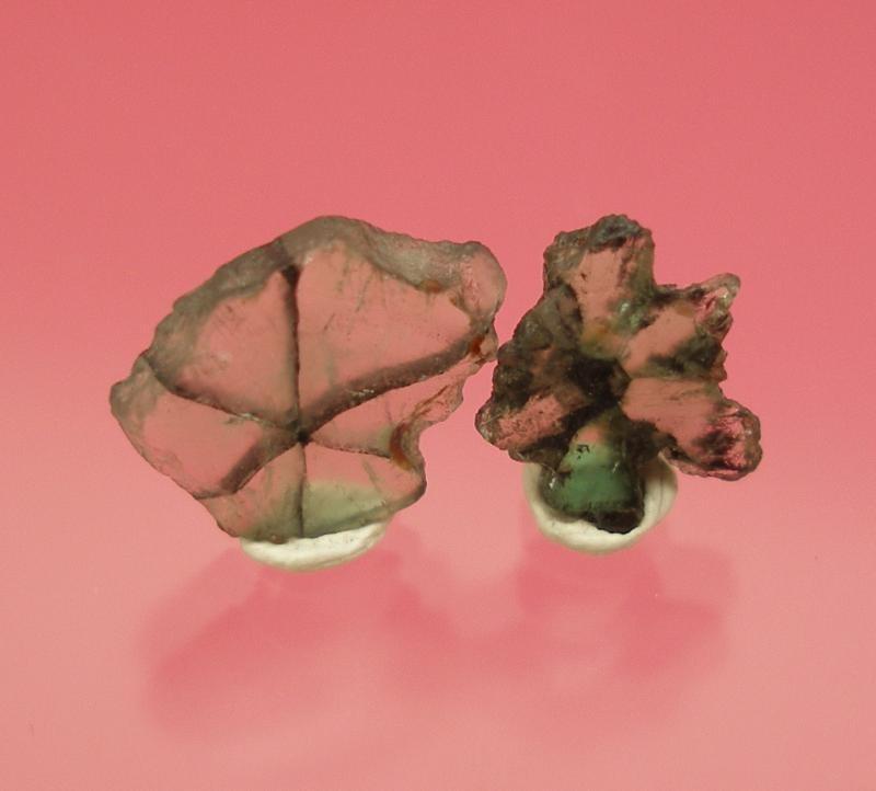 Smaragd (Trapiche) Scheiben 5 mm, Kolumbien