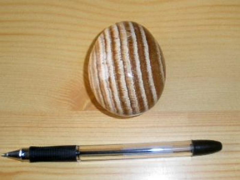 Aragonit Ei, gelb-braun, gebändert, 1 Stück