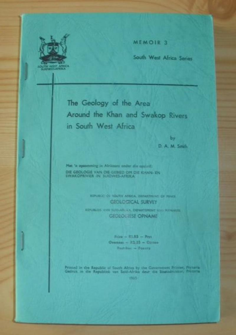 Geology of the area around the Khan and Swakop Rivers in South West Africa (Namibia) mit Karten