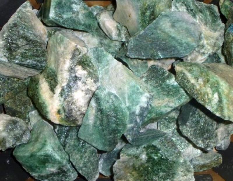 Fuchsit (in Granit), Norwegen, 100 kg