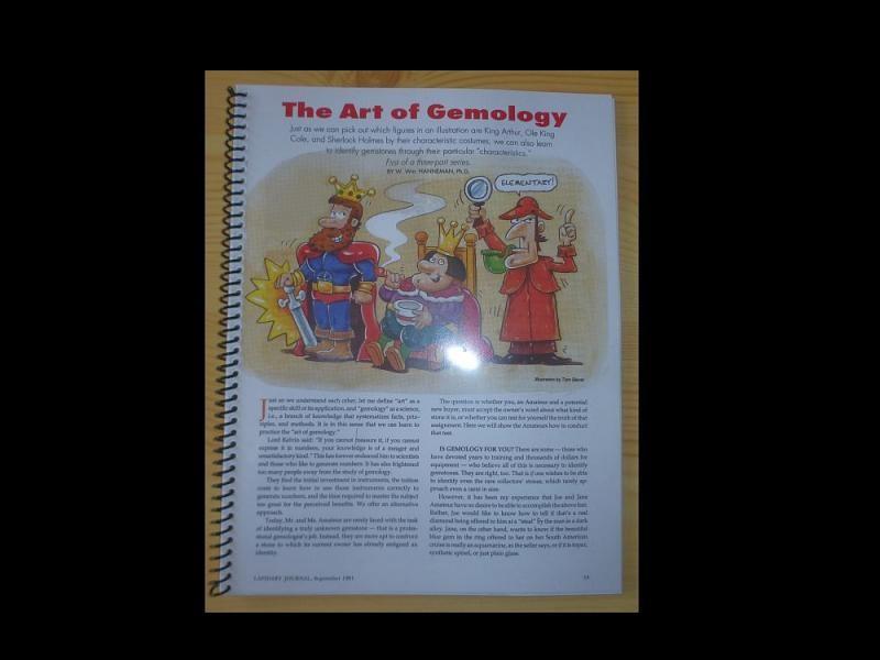 """Einführung in die Edelsteinkunde (""""The Art of Gemology"""") von Dr. Hanneman"""