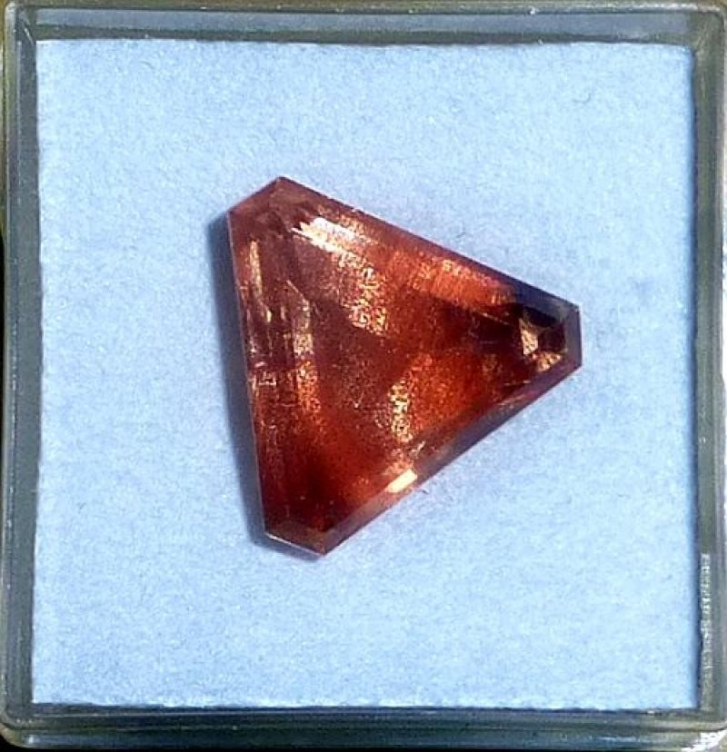 Oligoklas - Sonnenstein facettiert 19 mm, OR, USA