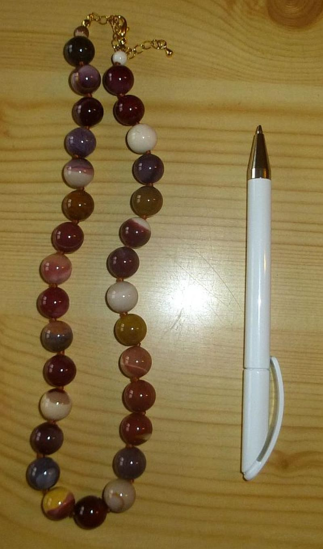 Kette aus 12 mm Mookait Kugeln, 45 cm lang, 1 Stück