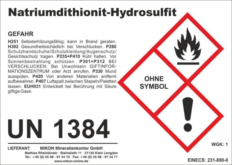 Natrium-Dithionit, Natriumdithionit, Natriumhydrosulfit 50 kg