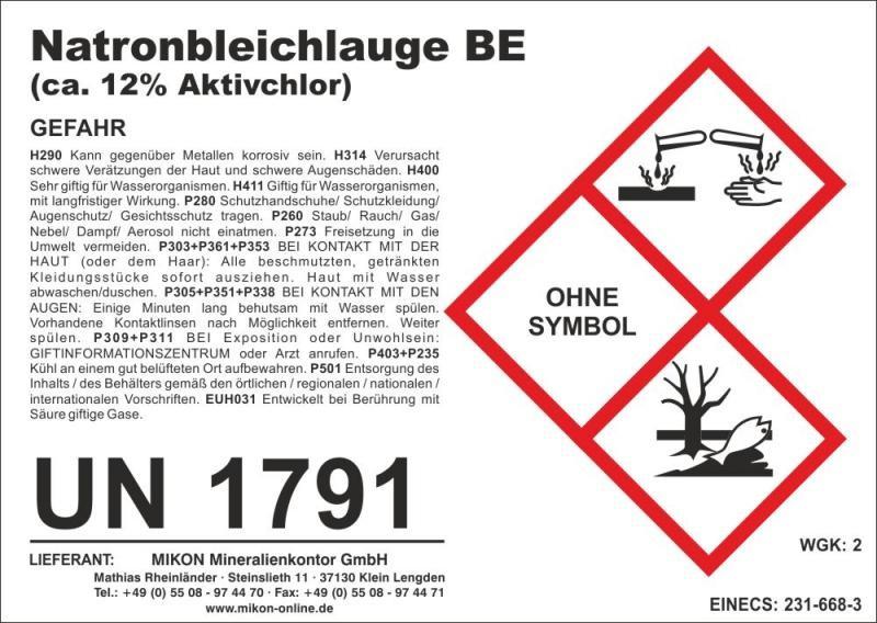 Natriumhypochlorit-Lösung, Desinfektionsmittel, 1 l