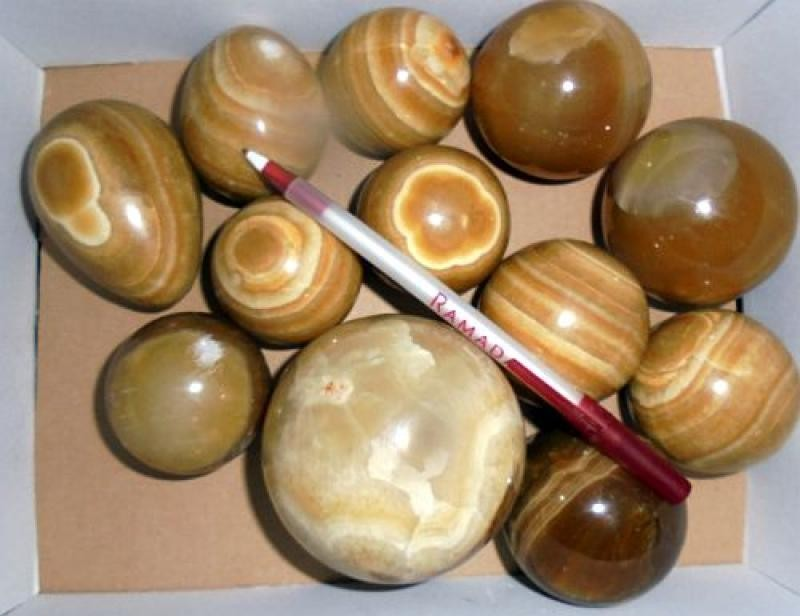 Aragonit poliert, Madagaskar, 1 kg