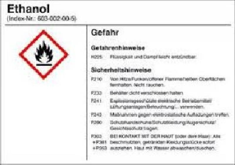 Brennspiritus, Ethanol, Desinfektionsmittel, 1 l