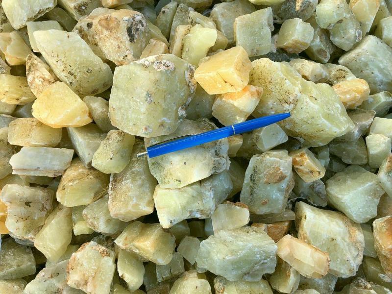 Calcit, gelb, Namibia, 100 kg