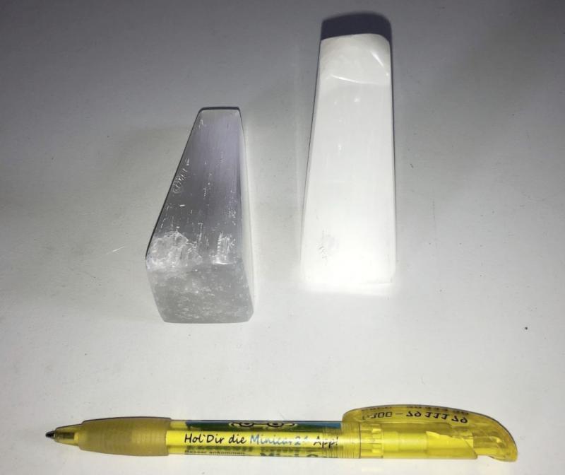 Selenit Berge, Obelisk, poliert, 8 bis 10 cm, 10 Stück