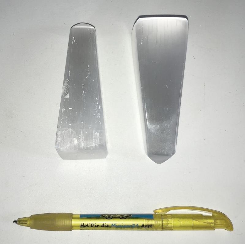 Selenit Berge, Obelisk, poliert, 8 bis 10 cm, 1 Stück