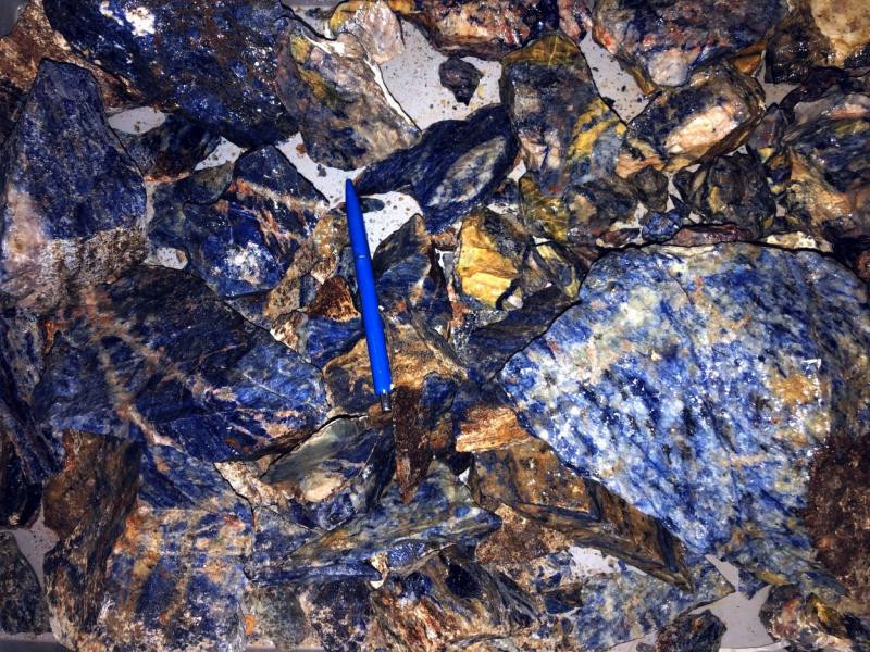 Sodalit (Sodalith), Chips, Kunene, Namibia, 100 g