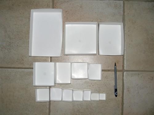 Faltschachtel SB 30, 63 x 50 x 25 mm, Packung mit 100 Stück