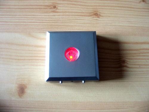 LED Untersetzer, 03 LED, eckig, silber, 10 Stück