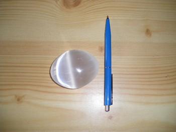Selenit Linsen- und Seifensteine, 6,5 cm, 1 Stück