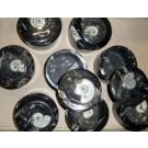 Ammoniten-Dosen, schwarz, 9 cm, mit Deckel, 1 Stück