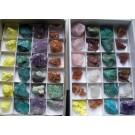 Gemischte Mineralien aus aller Welt, 10 Steigen