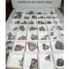 Gemischte Mineralien der Tonopah-Belmont Mine, AZ, USA, 1 Steige