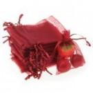Schmuckbeutel Organza rot 1 Stück