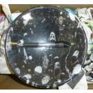 Orthoceras-Schüssel, rund, schwarz, ca. 20 cm, 1 Stück
