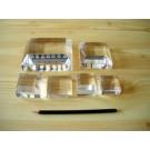 Plexiglassockel, ganz poliert, 3,8 x 3,8 x 1,3 cm, 10 Stück (BV1.5Hx10)