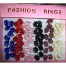 Ringe aus buntem Acyl, Set aus 16 Stück in unterschiedlichen Farben