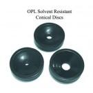 OPL konische Scheiben aus lösungsmittel-beständigem Metall. Set aus 3 verschiedenen.