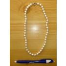Kette aus 8 mm echten Perlen (Zuchtperlen), 45 cm lang, 1 Stück