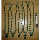 Malachit Kette mit Verschluß und Kreuz Anhänger (Handarbeit aus dem Kongo) 1 Stück