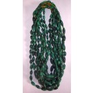Malachit Kette (ovale Perlen) mit Verschluß (Handarbeit aus dem Kongo) 1 Stück