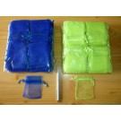 Schmuckbeutel Organza grün 100 Stück