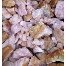 Rosenquarz, Namibia, kleinere Stücke, 100 kg