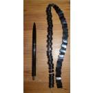 Kettenstrang aus 10 mm Hämatit Halbmonden, 45 cm lang, 1 Stück