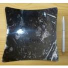 Orthoceras-Schüssel, quadratisch-gewölbt, schwarz, ca. 16 cm, 1 Stück