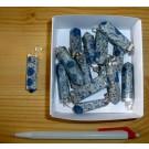 """Anhänger aus Azurit (""""K2-Stein""""), Echtsilberfassung, 1 Stück"""
