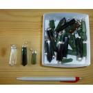 Anhänger aus Jade, Echtsilberfassung, 1 Stück