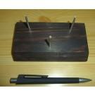 Holzständer mit biegsamer Halterung aus Echtsilber, groß (3-Stützen)