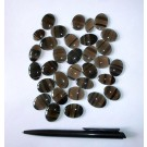 Lamellen-Obsidian, Cabochon, Katzenauge, 20-30 mm, Armenien