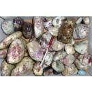 Turmalin (Liddicoatit) in Matrix, poliert, Madagaskar, 1 kg
