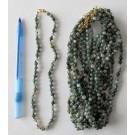 Kette aus 6 mm Moosachat Kugeln, 45 cm lang, 1 Stück