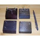 Holzständer mit biegsamer Halterung aus Echtsilber (4-Stützen)