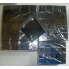 Edelsteindose, 9x9x3 cm, schwarz, 6 Stück