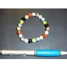 Armband, Steinmix - bunt, 8 mm Kugeln, 1 Stück