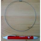 Metallband (Halskette, Halsreifen) silber mit Schraubverschluß 10 Stück