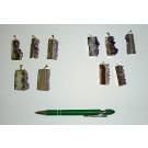 Amethyst-Scheibe in Metallfassung (golden/silbern), 10 Stück