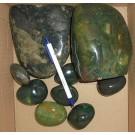 Jaspis, grün, poliert, Madagaskar, 1 kg
