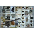 Gemischte Mineralien aus Deutschland, D., 1 Partie mit 51 Stück.