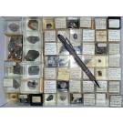Gemischte Mineralien aus Sachsen, D., 1 Partie mit 54 Stück.