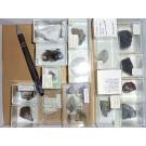 Gemischte Mineralien aus Sachsen, D., 1 Partie mit 17 Stück.