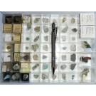 Gemischte Mineralien aus Deutschland, D., 1 Partie mit 47 Stück.